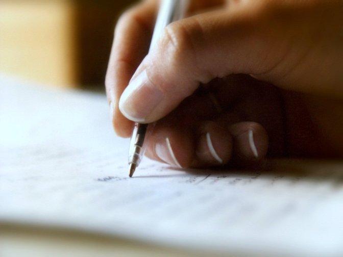 Wie schrijft, die blijft