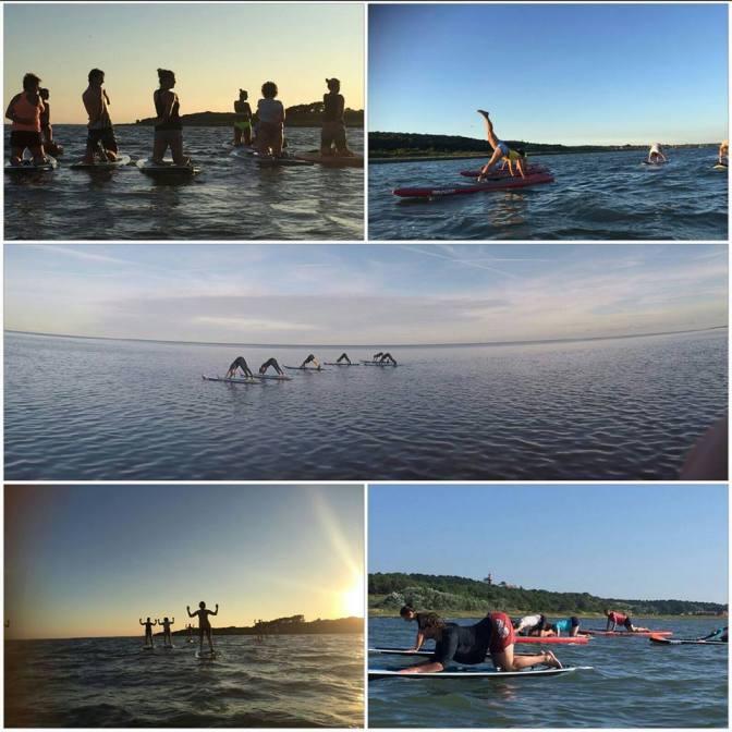 Yoga op zee
